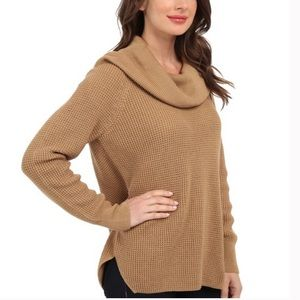 Michael Kors Camel Waffle Turtleneck Sweater